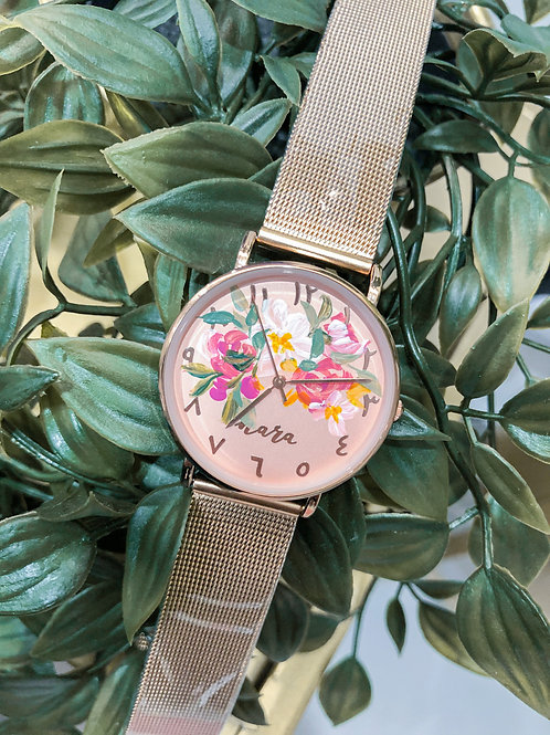Nara Watch - Rose Gold: White Rose  mix
