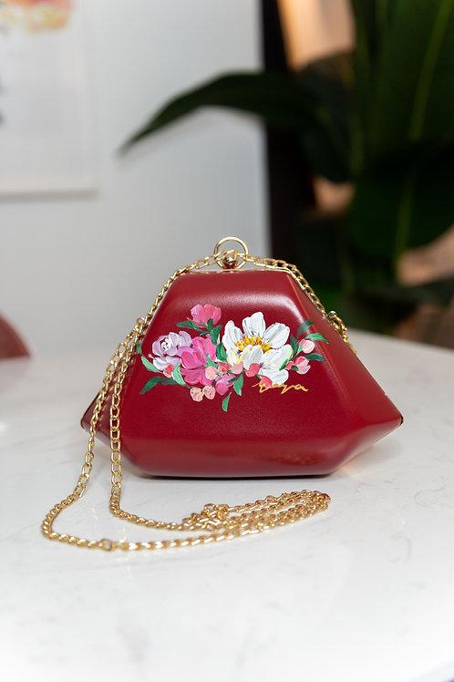 17FEB21BAG- Diana diamond bag in red