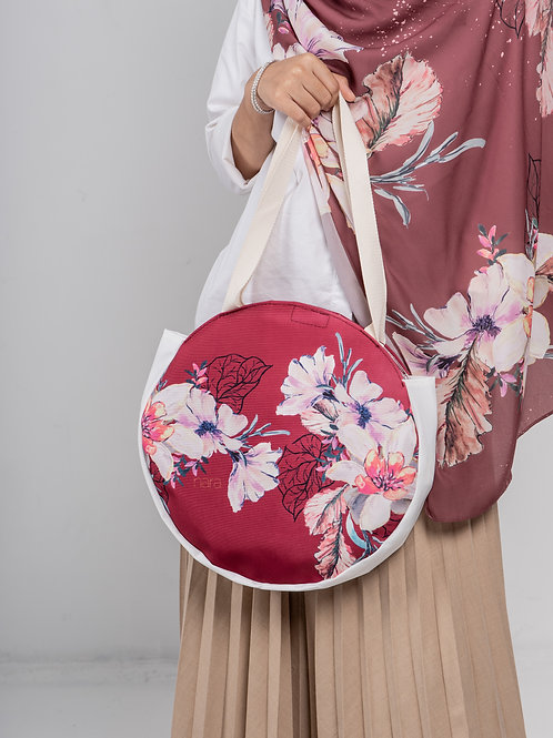 Round tote bag - Red