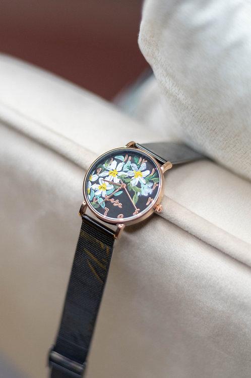 Nara Watch - Black Strap:Daisy 3