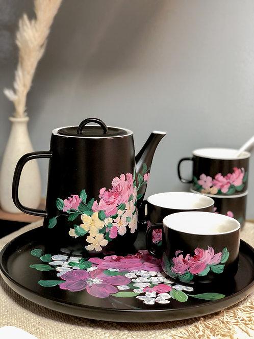 Greta ceramic set: Pink florals
