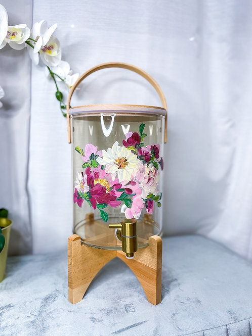 [PRE ORDER] 7L Molly water dispenser: White Yellow florals +Gtap