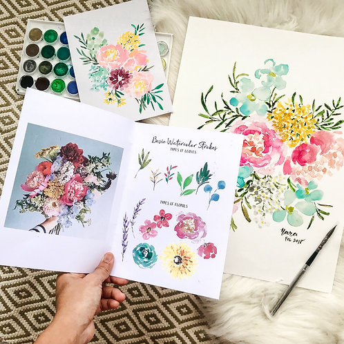 24th Aug Expressive Floral Watercolour Workshop
