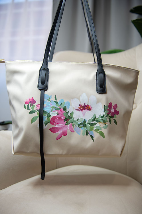 Lily shoulder bag - Cream Peony