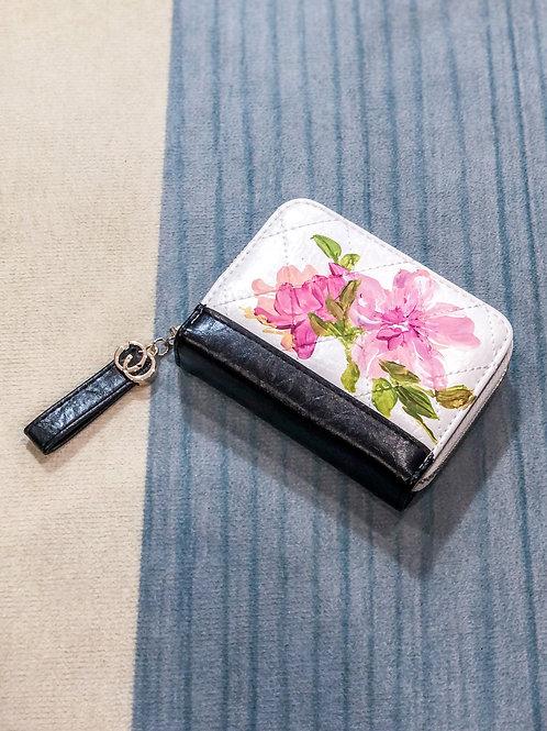 Wrist wallet Oct18: white pink