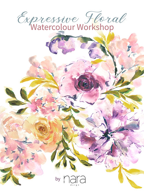15 Feb: Expressive Floral Watercolour Workshop