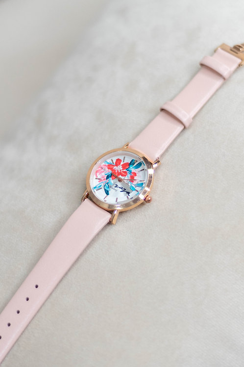 Smol Butterfly - Rose gold 01 Pink strap