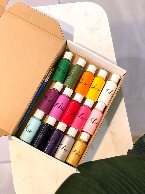 Nara Fabric paint set in a box