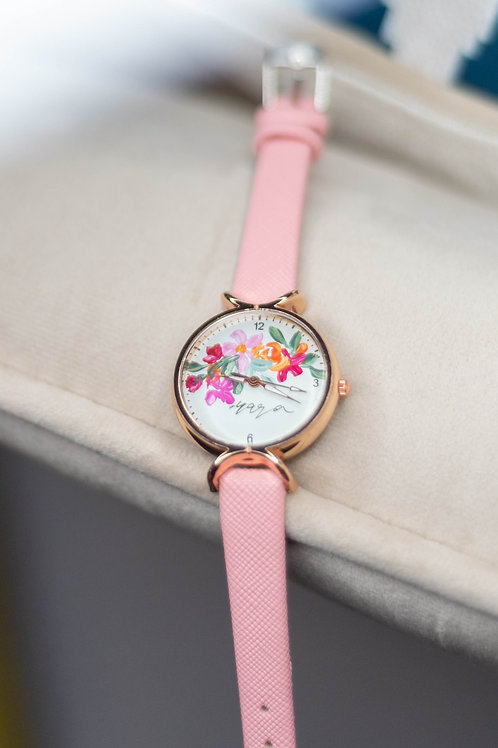 Roundy Leather strap 03 - Pink
