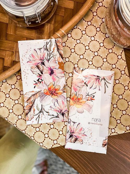 White Winter Fleur Money Packet