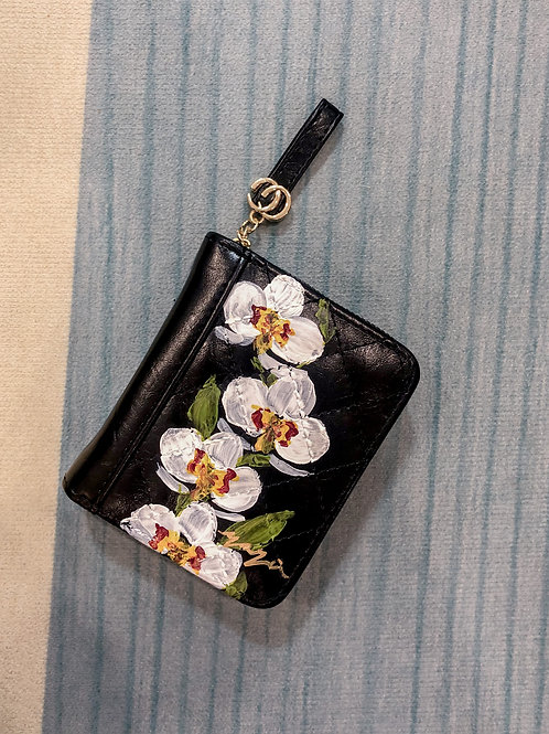 Wrist wallet Oct18: Black Orchid