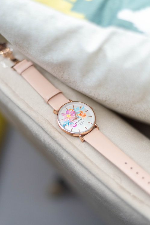 Butterfly - Rose gold 06 Pink strap