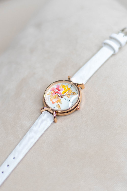 Roundy Leather strap 01 - White
