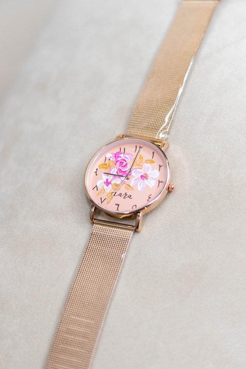 Nara Watch - Rose Gold Mesh Strap 01