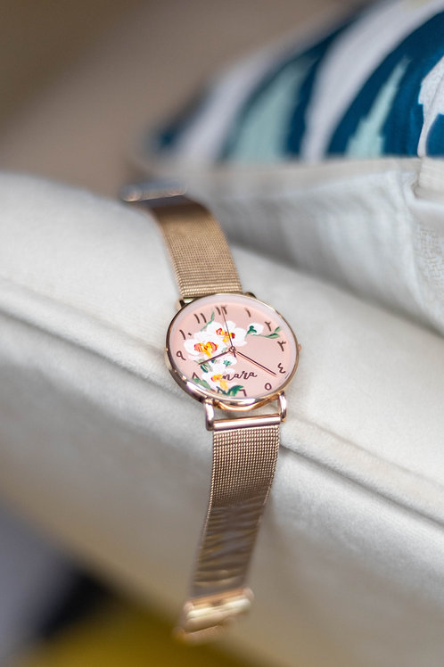 Nara Watch - Rose Gold: Orchid 3