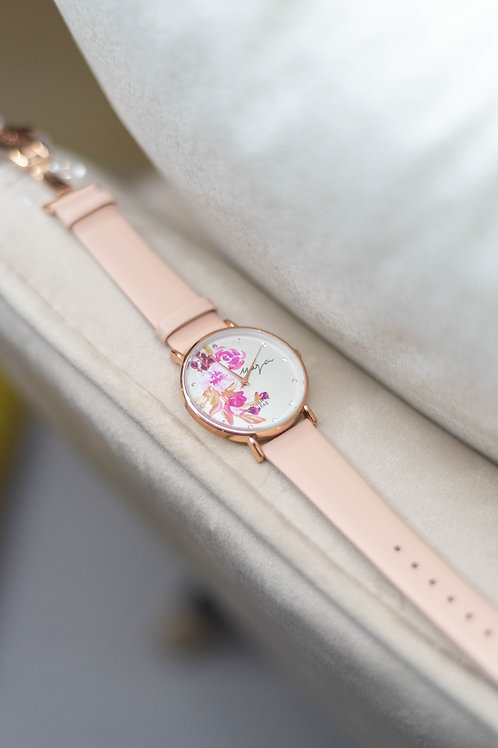 Butterfly - Rose gold 05 Pink strap