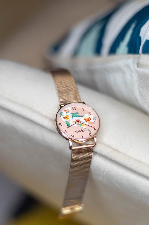 Nara Watch - Rose Gold: Orchid4