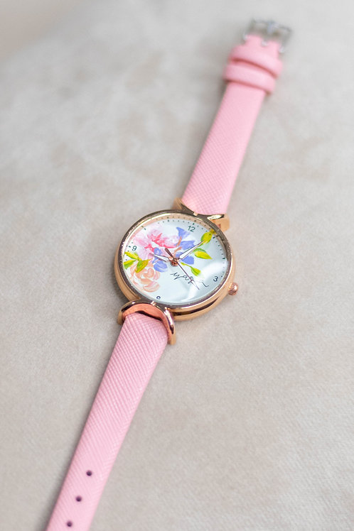 Roundy Leather strap 03 -PinkPurle