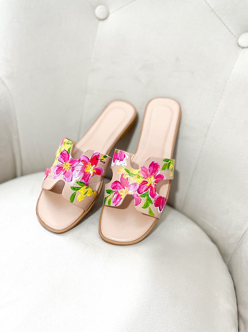38 Helly Sandal: Nude Pink