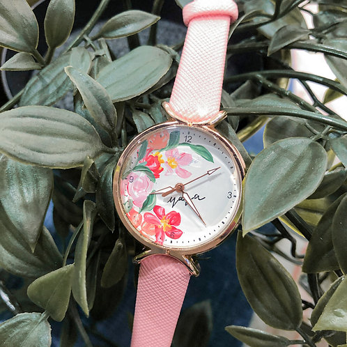 Roundy Leather strap 04 - Pink