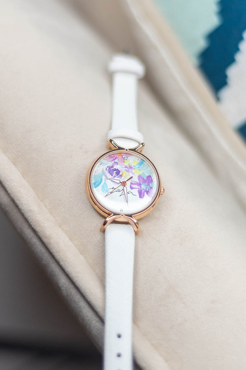 Roundy Leather strap 02 - White