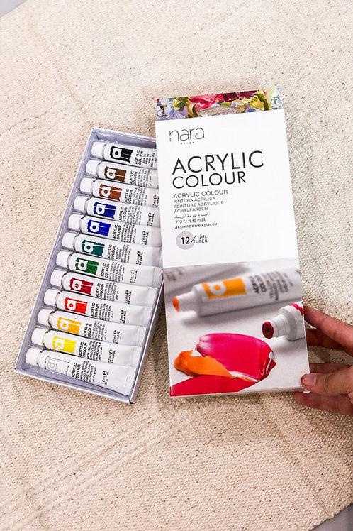 Acrylic paints in Basic set