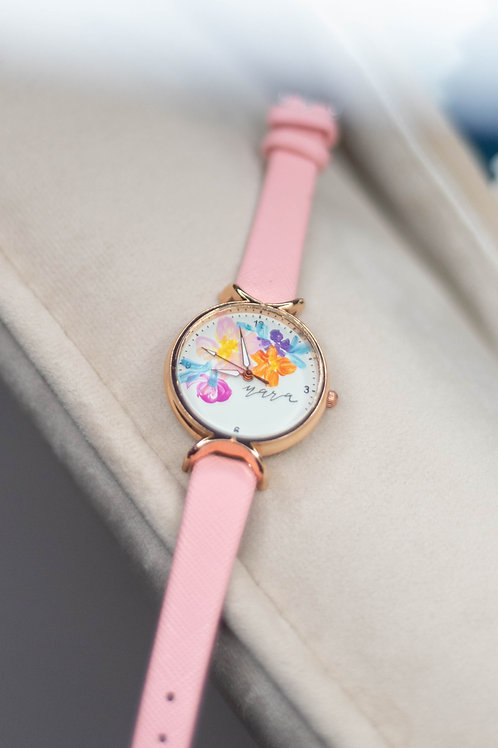 Roundy Leather strap 01 - Pink