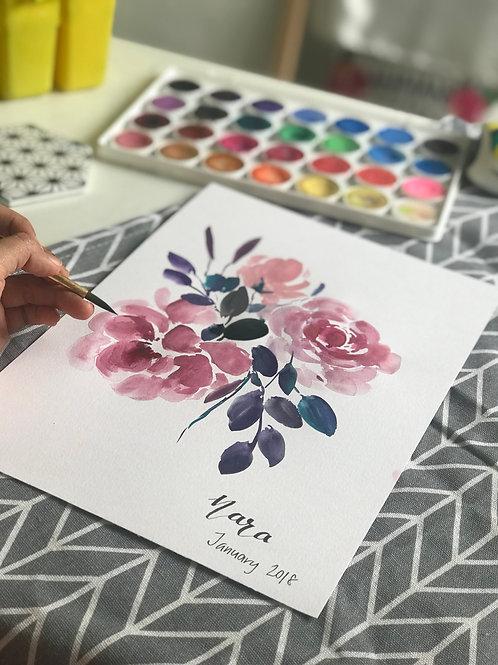 29th Aug  Expressive Floral Watercolor Workshop