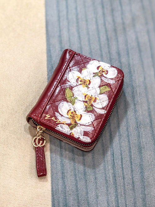 Wrist wallet Oct18: Red Orchid