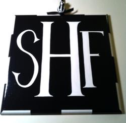 Monogrammed sign