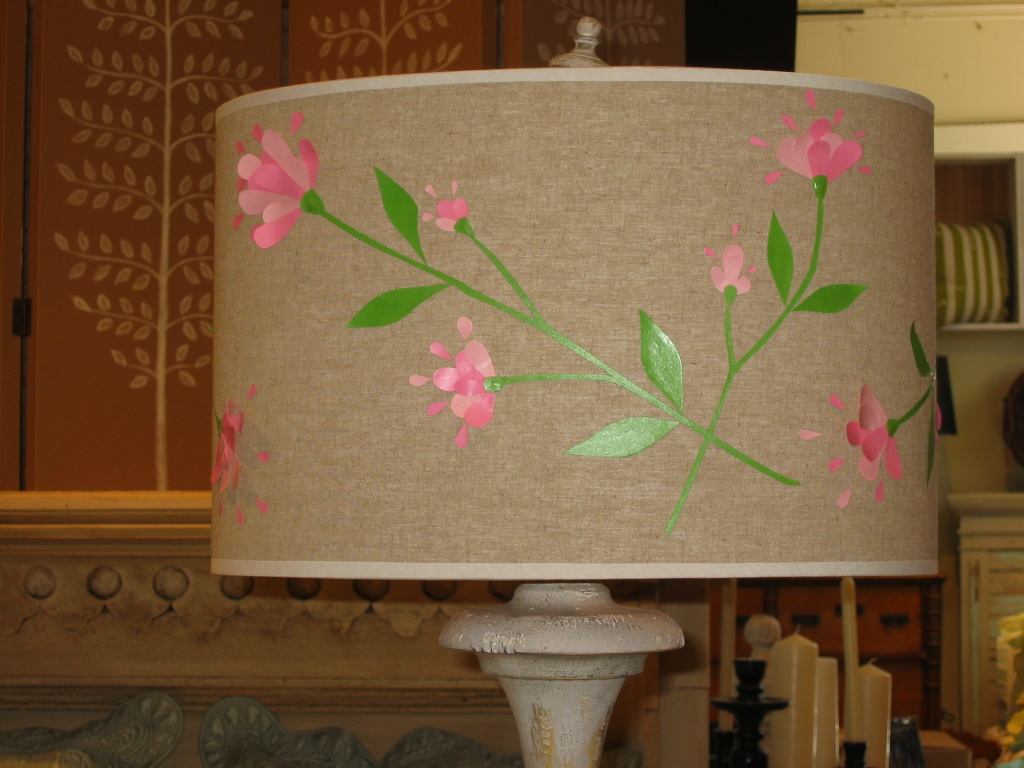 Floral vine lampshade