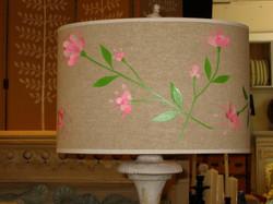 Floral vine lampshade