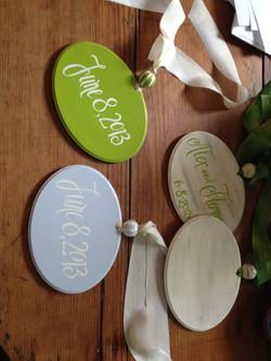 Custom wedding theme signs