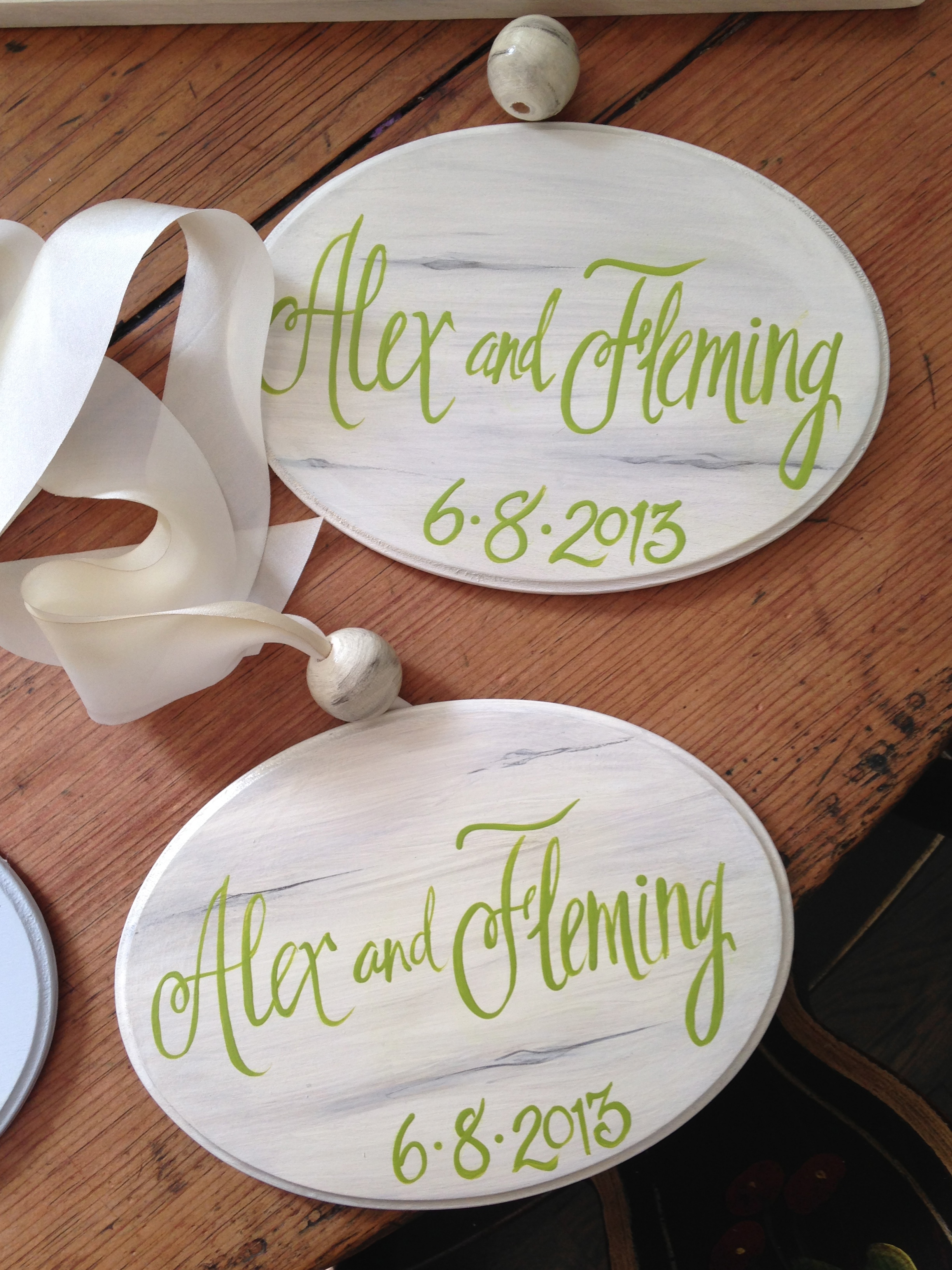 Custom wedding theme signs