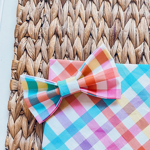 Pleasant Plaid Bow Tie
