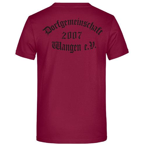 Rundhals Shirt hinten bedruckt und vorne mit Namen  möglich