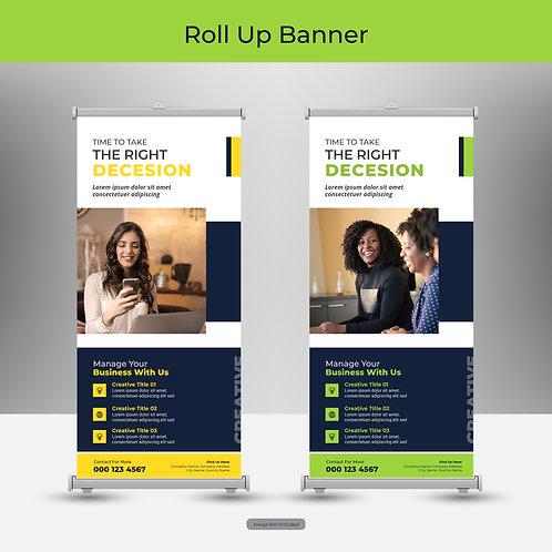 Roll-Up Bannerdisplay (PVC-frei) in verschienen Größen inklusive Druck