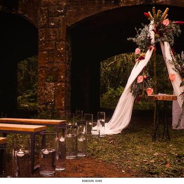 Altar de Casamento nas Ruínas