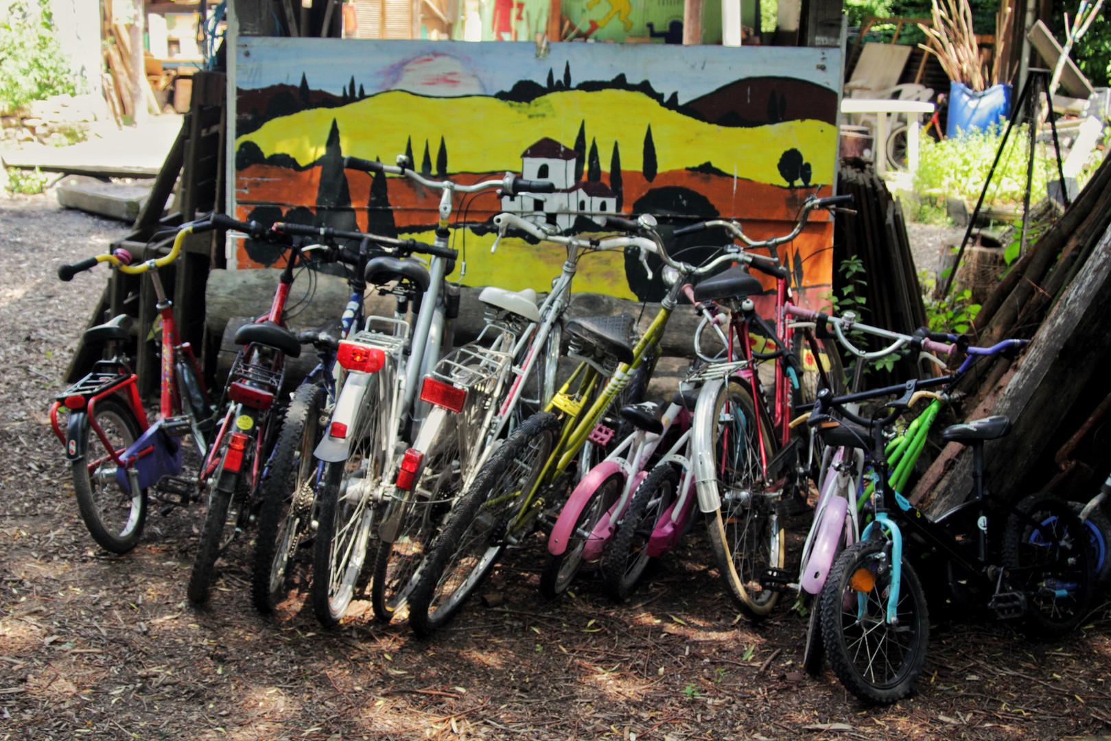 Unsere Fahrräder...