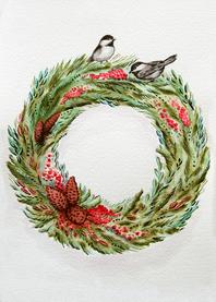 Chickadee Wreath