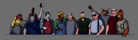 """Redneck Days"" Digital Illustration"