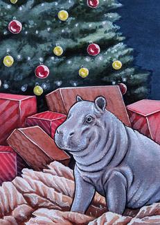Hippopotamus For Christmas