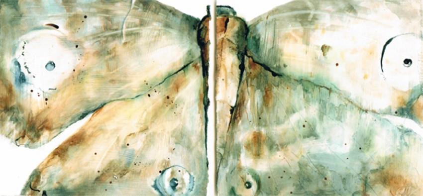Moths (mixed media) © Elizabeth Young