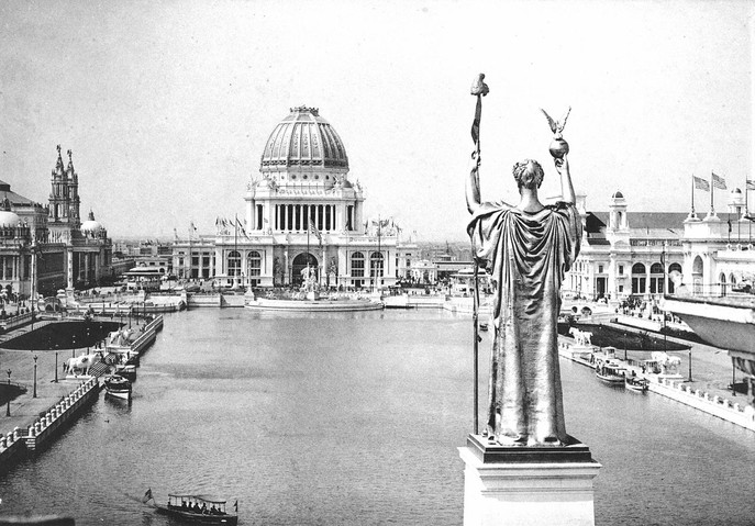 Court of Honor at the 1893 World's Columbian Exposition. Wikimedia Commons.