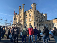 Administration building, Old Joliet Prison. Chicago and Movies in Prison.