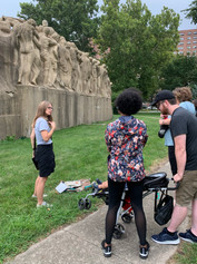Chicago and Movies on the Midway walking tour at Midway Studios, September 4, 2021. By Chicago Movie Tours.