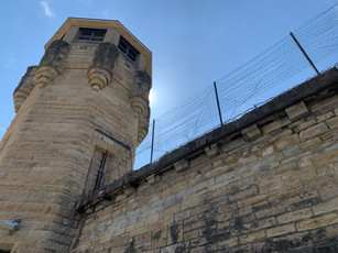 Guard tower. Chicago and Movies in Prison.