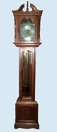 Emperor Grandfather Clock in Cherry Wood