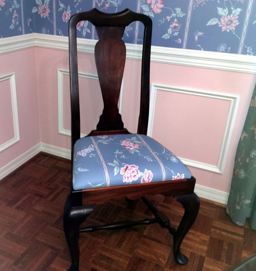 Mahogany Queen Anne Dining Room Chair