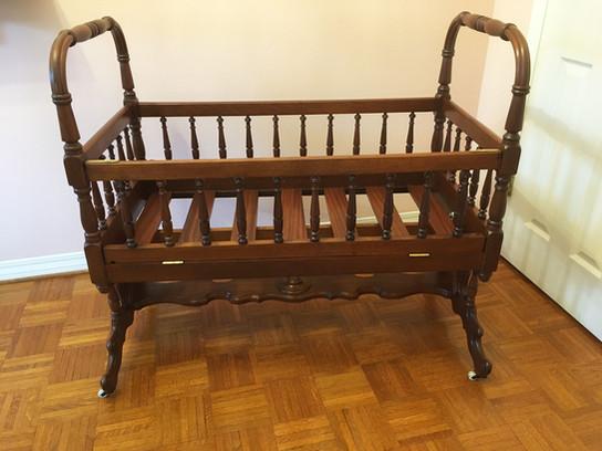 Victorian Mahogany Rocking Crib